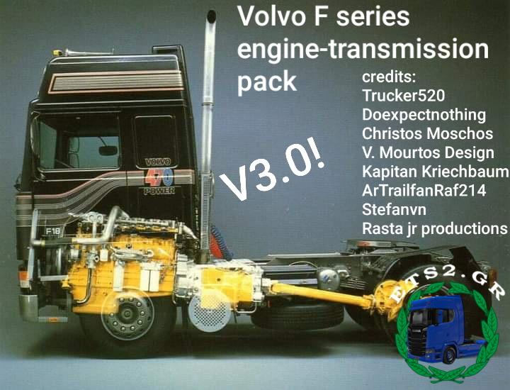 Volvo F series engine-transmission pack V3.0