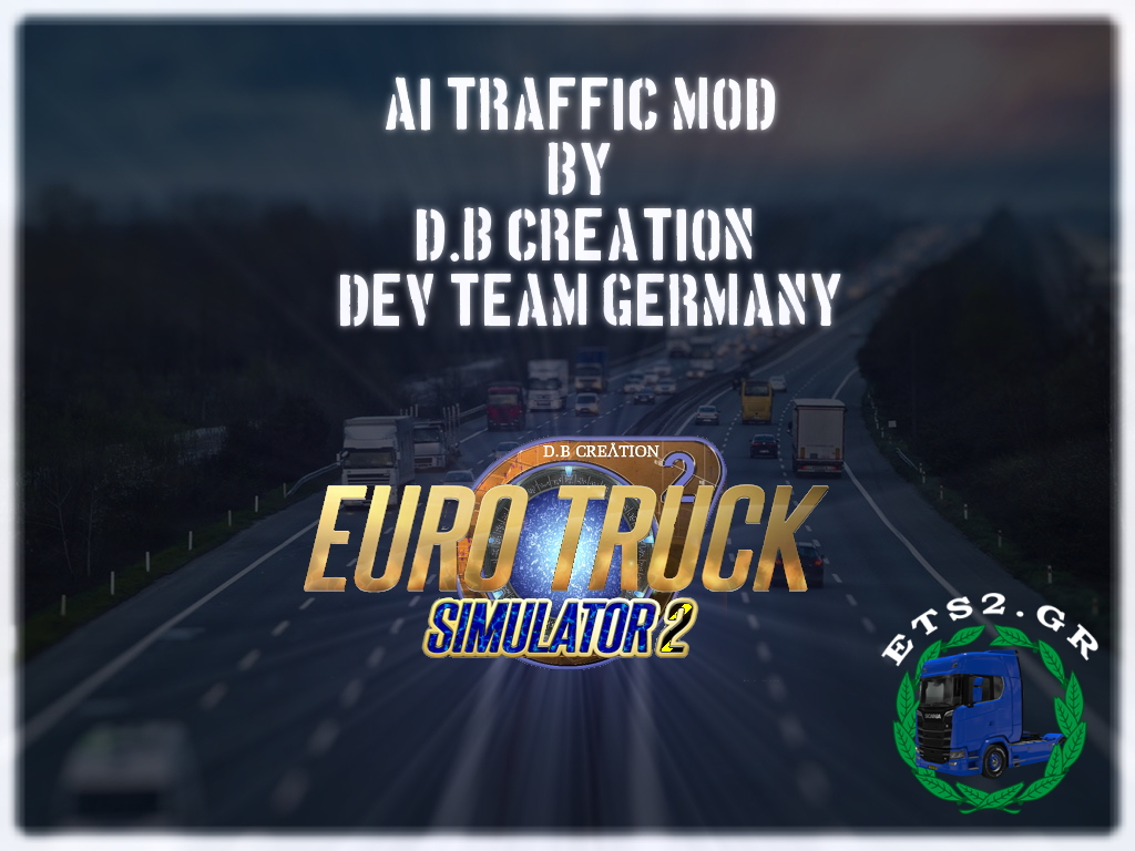 """D.B Creation's """"AI Traffic Mod"""" for ETS 2 1.39"""