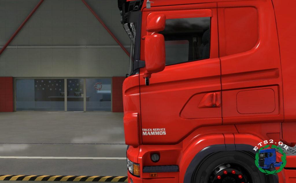 Mammos Truck Service Door Sticker